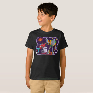 Raum-Roboter-scherzt galaktischer Universum-Raum T T-Shirt