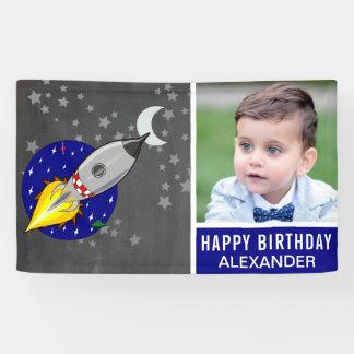 Raum-Rocket-Thema-kundenspezifisches Banner