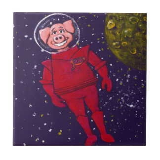 Raum-Schwein Kleine Quadratische Fliese