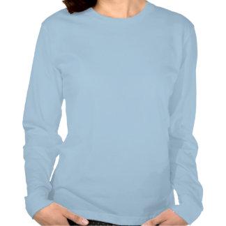 Raum-Shuttle-Frauen-lange Hülsen-angepasster T - S Tshirts