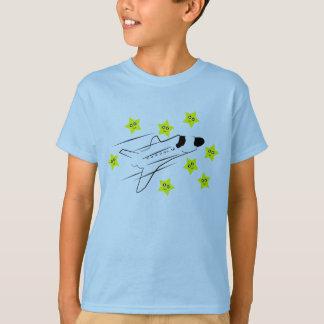 Raum-Shuttle scherzt hellblauen T - Shirt