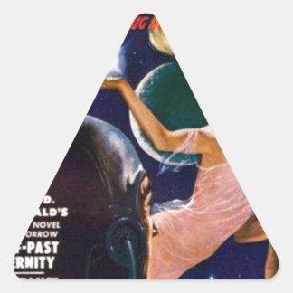 Raum-Sirene Dreieckiger Aufkleber