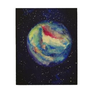 Raum spielt Planeten-hölzerne Wand-Kunst die Holzwanddeko