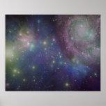 Raum, Sterne, Galaxien und Nebelflecke Plakate
