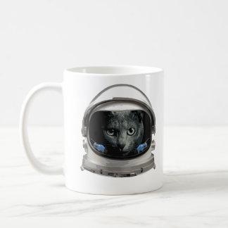 Raum-Sturzhelm-Astronauten-Katze Kaffeetasse