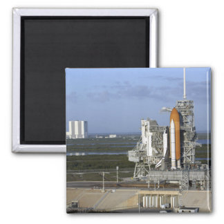 Raumfähre Atlantis 3 Quadratischer Magnet
