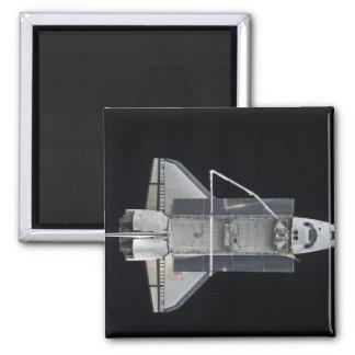 Raumfähre Atlantis 4 Quadratischer Magnet