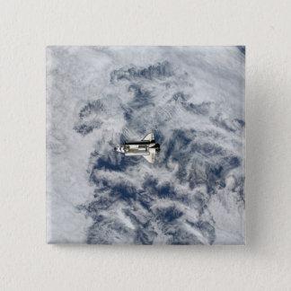 Raumfähre-Bemühung 11 Quadratischer Button 5,1 Cm
