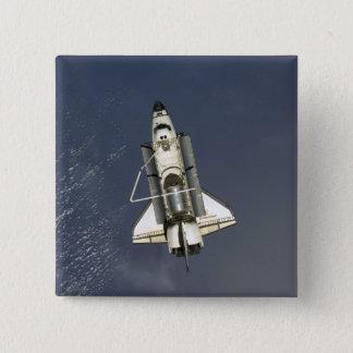 Raumfähre-Bemühung 15 Quadratischer Button 5,1 Cm