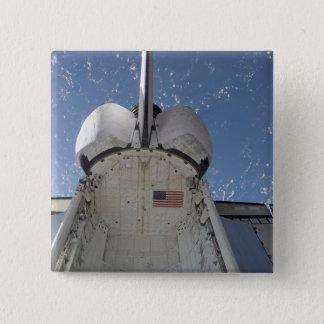 Raumfähre-Entdeckung 13 Quadratischer Button 5,1 Cm