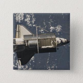 Raumfähre-Entdeckung 5 Quadratischer Button 5,1 Cm