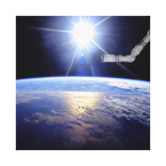 Raumfähre-Roboter-Arm-Umlaufbahn der Leinwanddruck