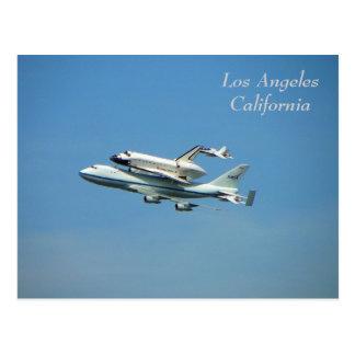 Raumfähre über Los Angeles-Postkarte! Postkarten
