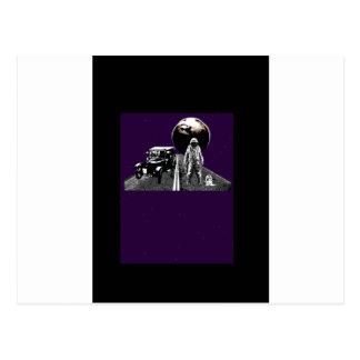 Raumfahrer-Tramper Postkarte