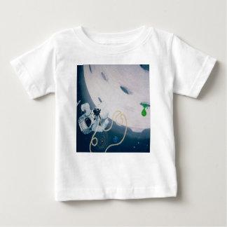 Raumfahrer und Mond Baby T-shirt