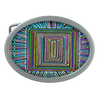 Raumfahrt-Kunst - Fliegen-unsichtbarer Knopf Ovale Gürtelschnallen