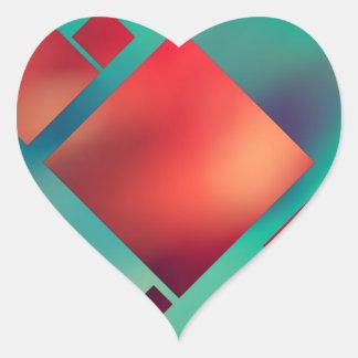 Rauminhalt berechnet im Surrealismus Herz-Aufkleber