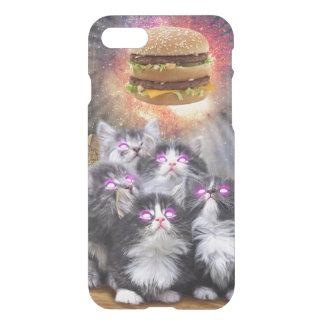 Raumkatzen, die nach dem Burger suchen iPhone 8/7 Hülle
