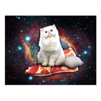 Raumkatzenpizza Postkarte