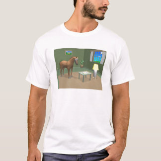Raumpferd u. -photon T-Shirt