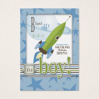 Raumschiff-Babyparty-Einladung Visitenkarte