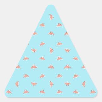 Raumschiff-Cartoon-Muster-Zeichnen Dreieckiger Aufkleber