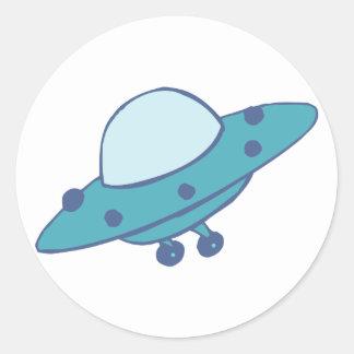 Raumschiff fliegende Untertasse UFO Runder Aufkleber