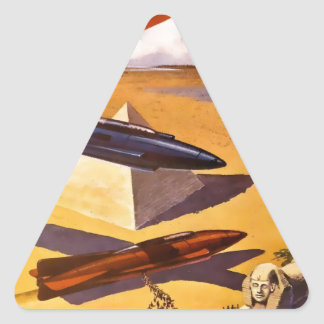 Raumschiffe in Ägypten Dreieckiger Aufkleber