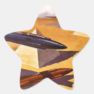 Raumschiffe in Ägypten Stern-Aufkleber