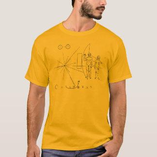 Raumsonde-Goldplakette die NASA-Pionier-10 T-Shirt