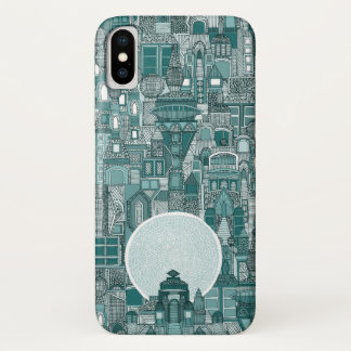 Raumstadt-monoaquamarines iPhone X Hülle