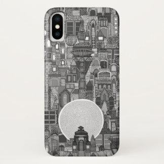 Raumstadt Monobw iPhone X Hülle