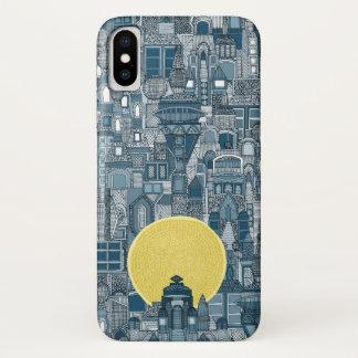 Raumstadt-Sonneblau iPhone X Hülle