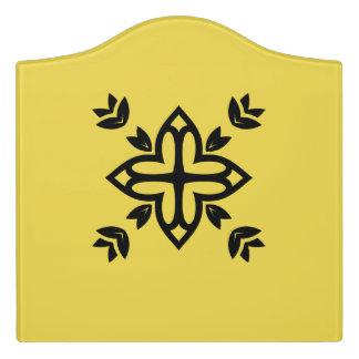 Raumtürzeichen: mit Mandalakunst Türschild