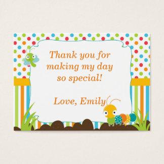 Raupen-Geschenk-Bevorzugung danken Ihnen, Wanzen Visitenkarte