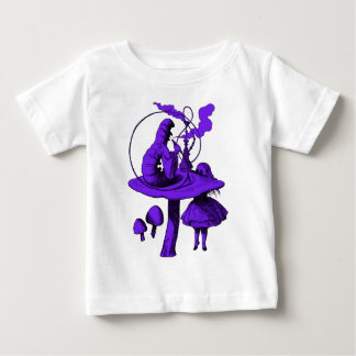 Raupen-lila Fülle Baby T-shirt