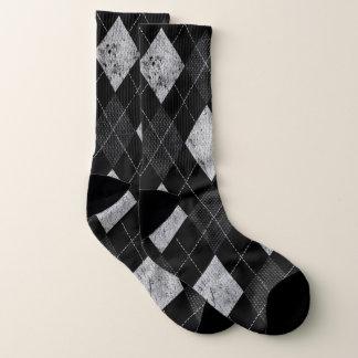 Raute beunruhigter einfarbiger preppy Muster-80er Socken