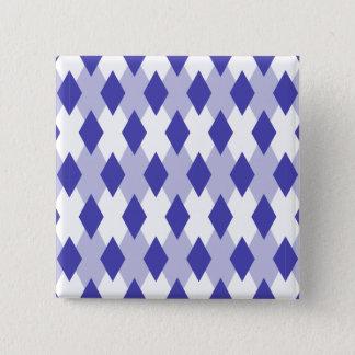 Raute kariertes Pattern_4A46B0 Quadratischer Button 5,1 Cm