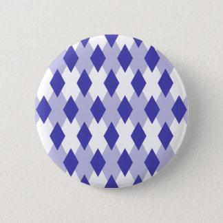 Raute kariertes Pattern_4A46B0 Runder Button 5,7 Cm