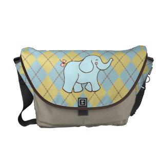 Rauten-Elefant-Bote-Tasche Kurier Taschen