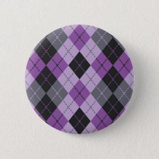 Rauten-Entwurf Runder Button 5,1 Cm