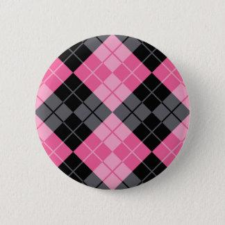 Rauten-Entwurf Runder Button 5,7 Cm