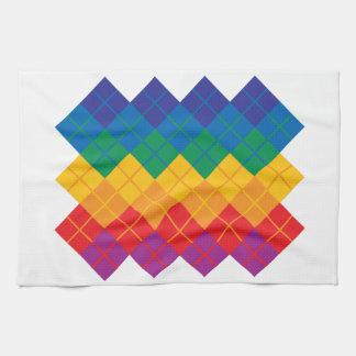 Rauten-Farbspektrum Handtuch