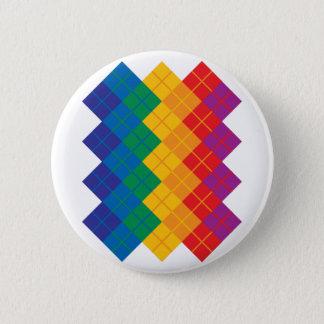 Rauten-Farbspektrum Runder Button 5,1 Cm