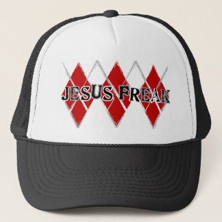Rauten-Jesus-Freak Truckerkappe