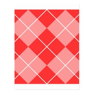 Rauten-Muster-Bild Postkarte