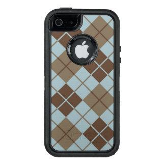 Rauten-Muster im Blau und im Taupe OtterBox iPhone 5/5s/SE Hülle