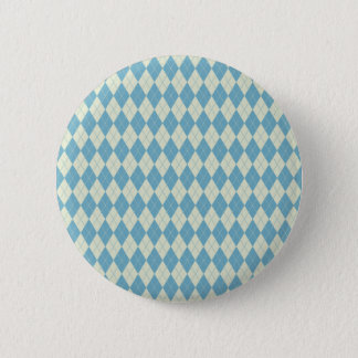Rauten-Muster in der Minze und in der Creme Runder Button 5,7 Cm