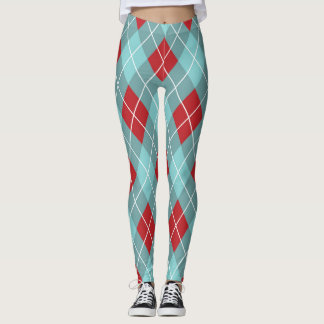 Rauten-Muster Leggings