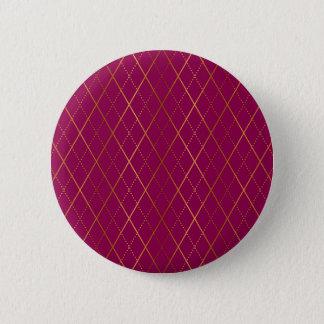 Rauten-Pflaume Runder Button 5,7 Cm